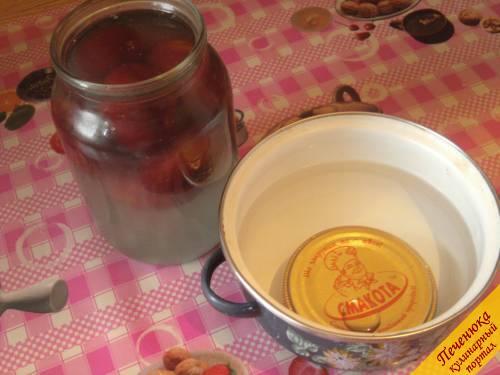 Сливовый компот с пряностями, пошаговый рецепт с фото