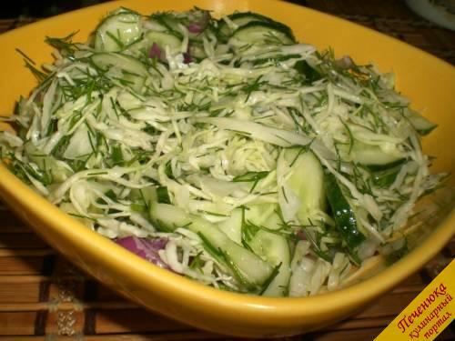 Капустный салат – кулинарный рецепт