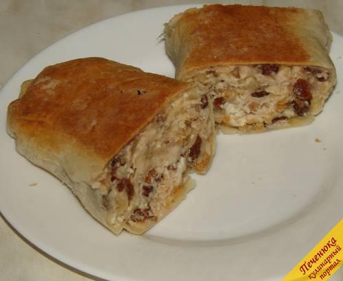 Цыпленок, фаршированный творогом и орехами, пошаговый рецепт с фото